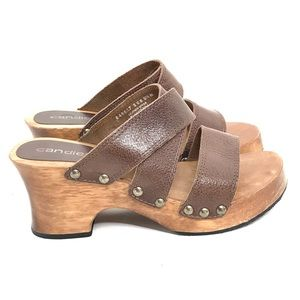 Vintage Platform Sandals Y2K Leather Slides Chunky